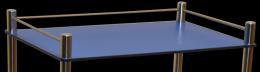 Barre de poussée pour guéridon 420 x 420 mm