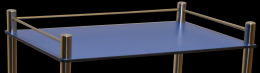 Barre de poussée pour guéridon 630 x 420 mm
