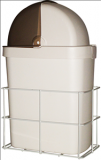 Support poubelle + Poubelle 9 L avec couvercle