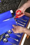 Antiderapant Dycem Bleu Largeur 20 CM
